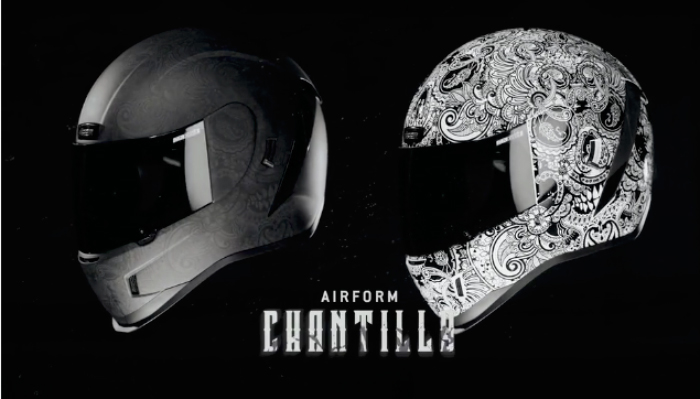 Casque moto icon airform Chantilly